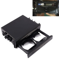 In-Dash Car Double Din Stereo Radio Pocket Dual-Drink Cup Holder Storage Box