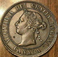 1899 CANADA LARGE CENT LARGE 1 CENT PENNY - Fantastic example!
