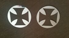 """4.5"""" Cross speaker covers polished stainless for Harley Davidsons"""