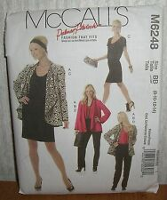 Womens/Misses Jacket Top Dress & Pants Sewing Pattern/McCall's M6248/SZ 8-14/UCN