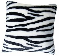 Zebra Animal Print Faux Fur 18 inch Cushion Cover SPECIAL OFFER PRICE