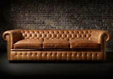 Chesterfield Design Luxury Sofa Pads Couch Set Leather 3 Seat 6118913