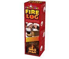 PRANK Wine Gift Box - FRUITCAKE FIRE LOG - Prank Fake Funny PARODY anniversary