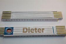 Zollstock mit Namen     DIETER    Lasergravur 2 Meter Handwerkerqualität