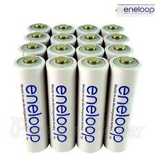 16 x Panasonic Eneloop AA batteries 1900mAh Rechargeable Ni-MH BK-3MCCE LR06