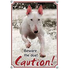 Pet Sign Bullterrier - Caution
