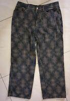 "Authentic FENDI Vintage Zucca Pattern Pants Brown Black 32""Ins:27"" RARE!!!"