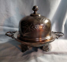 Barbour Bros. Co. Quadruple Plate Domed Butter Dish #89