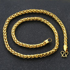 "Men's Rope Chain Necklace 18K Yellow Gold Filled 24"" Link Jewelry Festival Gift"