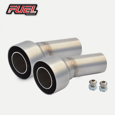 PAIR of Removable Baffles / DB Killers to fit 57mm I.D Angled Outlet Exhausts