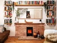 Reclaimed Rustic Wood Scaffold Board Shelves Industrial Look Shelf UK Made