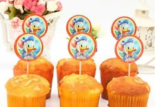 12 pcs Cupcake Cup Cake Decorating,Toppers PARTY DECORATION, Donald Duck
