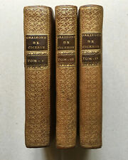 Cicéron — Oraisons choisies — bilingue, trad. de Wailly — 3 vol. — Barbou — 1772