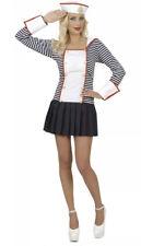 Ahoy Sailor Ladies Fancy Dress Navy Military Uniform Seas Womens UK 8-10 Small