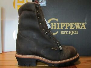 "Chippewa Arador Work Boots 9"" Waterproof Leather Steel Toe 12E 25405 USA Logger"