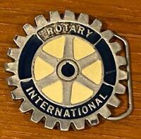 Vintage Rotary International Heavy Enameled Belt Buckle
