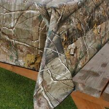 "Realtree Ap Camouflage Peva vinyl flannel back tablecloth 52"" x 90"" Oblong"