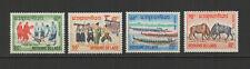 Royaume du Laos 4 timbres non oblitérés 1966 folklore /T2728