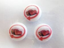 Disney Cars  Red  Buttons 3 pack 15mm Original Disney Product  Knitting