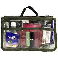Clear Handbag Bag Purse Cosmetic Organizer Storage See Through Badget Insert .
