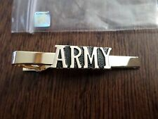 U.S MILITARY ARMY TIE BAR OR TIE TAC CLIP ON TYPE U.S.A MADE U.S ARMY