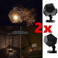 2x Romantic Astrostar Astro Star Laser Projector Cosmos Light Night SKY Lamp DIY
