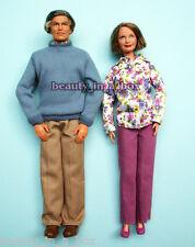 "Grandpa Grandma Happy Family Barbie Ken Doll Lot 2 Grandparents """