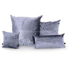 Cojín de color principal azul de terciopelo para el hogar