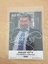 HOLBY CITY PAUL BRADLEY SIGNED PROMO CARD
