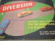DIVERSION GAME - SPEARS GAMES - 1960'S - MOTOR RACE GAME - DIVERSION - UNIQUE