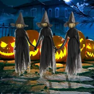 Outdoor Halloween Decorations Light-Up Witches Halloween Prop Screaming Witches