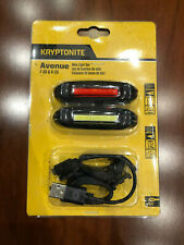 LUCI BICI KRYPTONITE F-35 R-20 Front Rear Bike Lights ricaricabili rechargeables