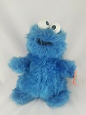"Vtg 80's Knickerbocker Muppets Sesame Street 14"" plush Cookie Monster Rattle Tag"