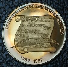 1787-1987 Constitution Of The Unites States Medal - Great Seal of the Us - Huge
