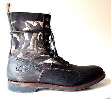 new mens HUGO BOSS 'Arizo' black leather BOOTS shoes - 45 UK 11 US 12