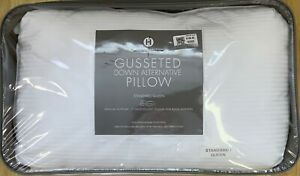 HOTEL COLLECTION STANDARD / QUEEN GUSSETED DOWN ALTERNATIVE PILLOW NIP MSRP $100