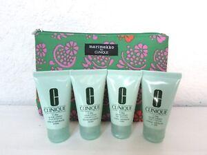 4 X CLINIQUE 7 DAY SCRUB CREAM RINSE-OFF FORMULA 1 oz/ 30 ml ea & Beauty Bag