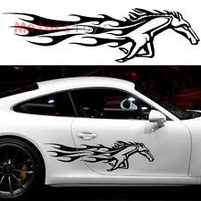 2PCS So Cool Running Fine Horse The Side Door Hellaflush Vinyl Car Sticker Decal