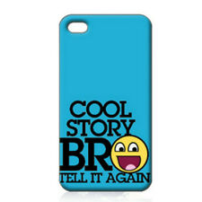 MEME Cool Story Art Printed iPhone 4/4s Case for iPhone 4 iPhone 4s Plain