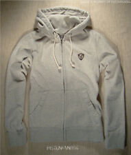 American Eagle Mens Oatmeal Heather Crest Zip Hoodie Sweatshirt SMALL NWT