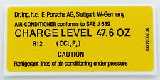PORSCHE 911 930 Aria Condizionata Charge Level Adesivo Decalcomania