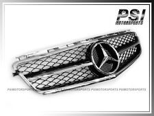 2008-2011 W204 C63AMG Sedan Front Chrome Silver & Shiny Black Hood Grille BENZ