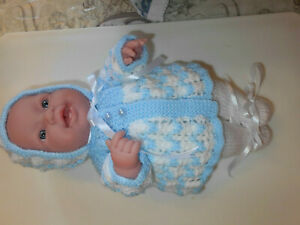 Berenguer doll 14 inches in new hand knitted outfit please see description