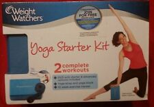 Weight Watchers Yoga Starter Kit 2 Complete Workouts Strap Block + DVD