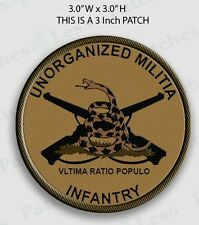 Unorganized Militia Infantry Patches Subdued Tan