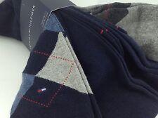 ecf1588264a1 Men's TOMMY HILFIGER Blue Gray ARGYLE 34% COTTON Dress Socks -4 Pack- $36