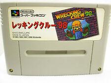 Super Famicom WRECKING CREW 98 Video Game Nintendo Cartridge Only sfc