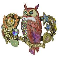 Kirks Folly Owl Of Wisdom Cuff Bracelet (Brasstone) with Free Shipping