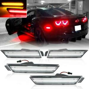 Fits 2010-2015 Chevy Camaro Clean Lens LED Side Marker Lights Front & Rear Kit