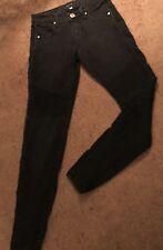 "STS BLUE Black Slim Skinny Stretch Blue Jeans Womens Size 0 x 30"" inseam"